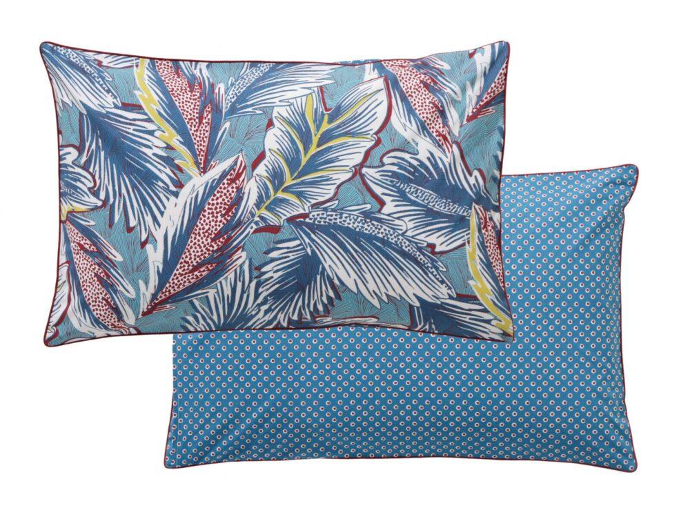 Постельное белье DJAKARTA turquoise BLANC DES VOSGES (Франция)