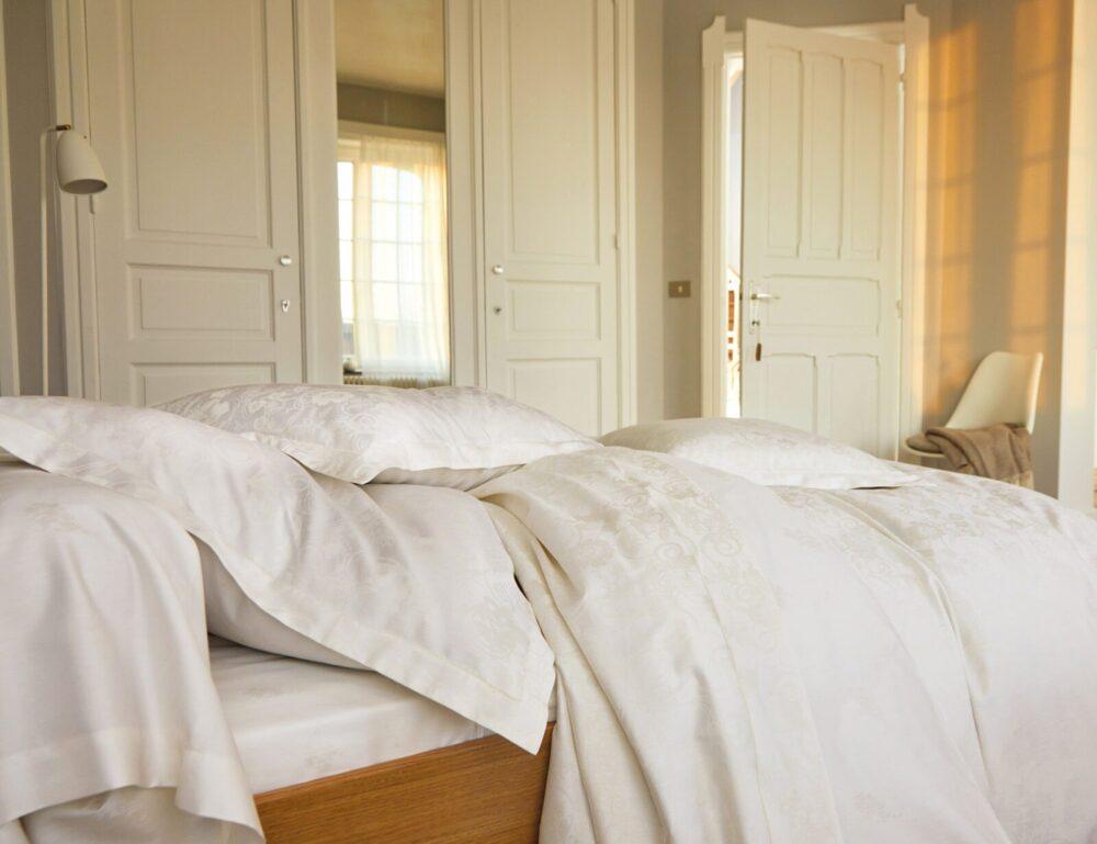 Постельное белье HESPERIDE NACRE BLANC DES VOSGES (Франция)